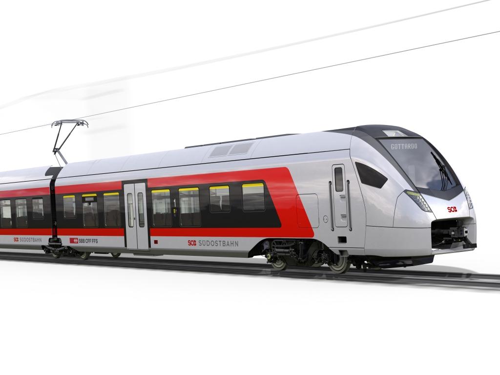 Südostbahn Flirt Zug Stadler Rail für Gotthard Panormastrecke SBB