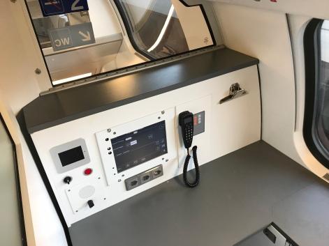 Sprechstelle für Zugpersonal