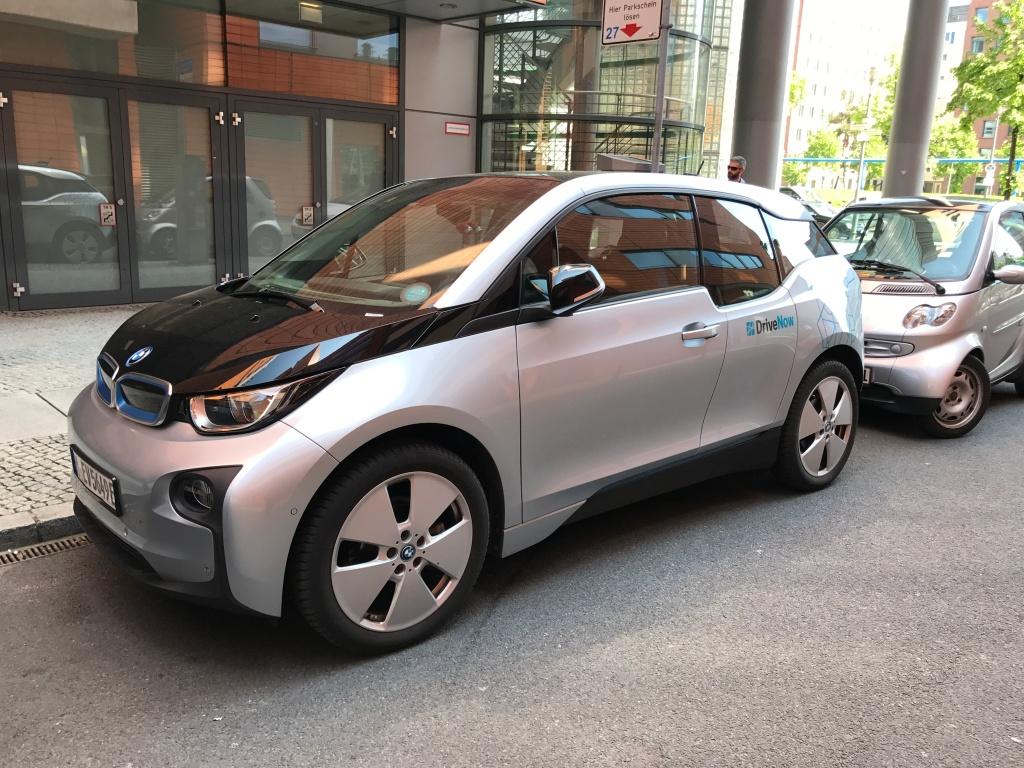 DriveNow BMW i3 Elektroauto Berlin