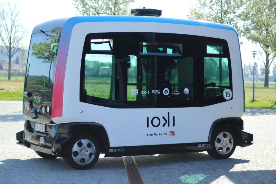 ioki selbstfahrender Shuttlebus Bad Birnbach Bayern