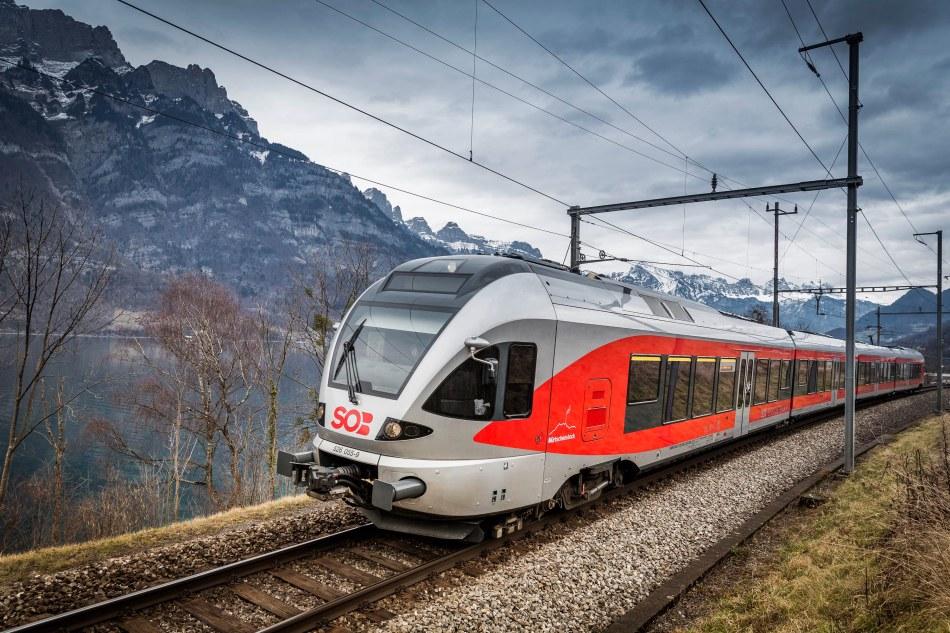 Die Schweizerische Suedostbahn AG, SOB ist ein selbststaendiges, nach privatwirtschaftlichen Kriterien gefuehrtes Eisenbahn Unternehmen